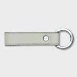 Leather Key Ring (White)